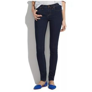 """Madewell 8"""" Skinny Jeans in Madewell Rinse Size 27"""